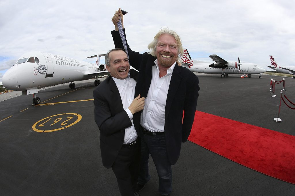 Sir Richard Branson Unveils Regional Airline In Perth